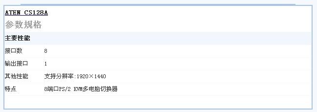 ATEN CS-128A切换器 贵州冰点价热销